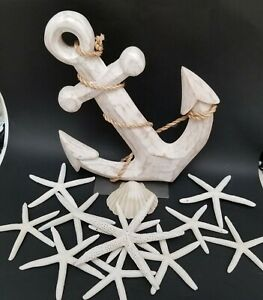 Boat Anchor Ornament with Star Fish Decoration Tabletop Home Office Decor