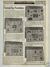 1937 PAPER AD Tootsietoy Doll House Furniture Sets Washing Machine Dollybuds +