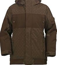 Burton Cosmic Delight Jacket Mens Snowboard 10k Waterproof Shell Brown XL $190