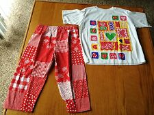 Girls Outfit - T-Shirt & Capri - Size 14 - Mad
