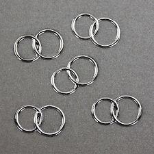 25 Doppel Ringe silber Deko Streuteile Scrapbooking Tischdeko Streudeko Hochzeit
