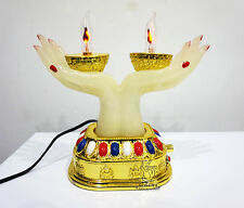 Tibet Lama Mantra Prayer Electric Lamp Buddhist Goddess of mercy Lotus Hands