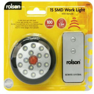 Rolson 15 SMD Work Outdoor Light With Remote 100 Lumens Black - 61787