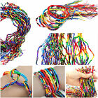 Bracelets Handmade Colorful Thread Woven Friendship Cords Hippie Anklets Braid