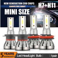 4x 300W H7+H11 CREE LED Headlight Bulb Kit Canbus Error Free 30000LM White 6500K