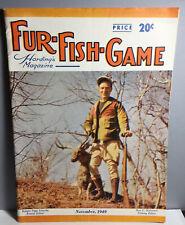 November 1949 Fur-Fish-Game Harding'S Magazine Kodachrome Cover