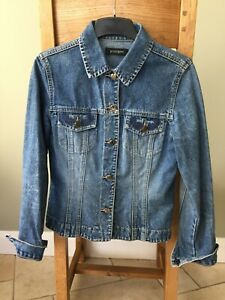 VINTAGE JEAN JACKET SIZE 10 WITH COLLAR & BUTTON DOWN  FRONT POCKETS -CLASSIC!