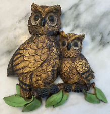 New ListingVintage Mid Century Homco Owl Plaques Wall Decor Collectible 1976 Mother Baby
