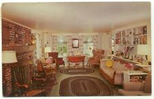 Cuttingsville VT Tip Top Inn Living Room Vintage Postcard - Vermont