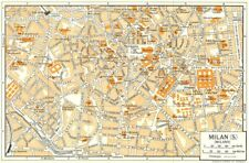 Milan Italy Antique Europe City Maps for sale | eBay