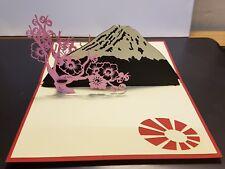 3D Pop Up Tarjeta de flor de cerezo. todas las ocasiones