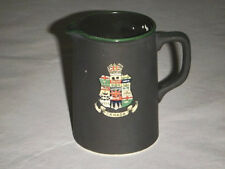 "FRANK BEARDMORE FENTON BASALTINE WARE 3.75"" PITCHER ENAMEL CANADA COAT OF ARMS"