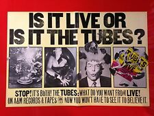 """BIG 14x22 ORIGINAL THE TUBES """"WHAT DO YOU WANT FROM LIVE"""" LP ALBUM CD PROMO AD"""