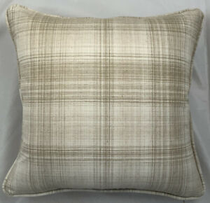 A 16 Inch cushion cover in Laura Ashley Williams Check Natural Fabric