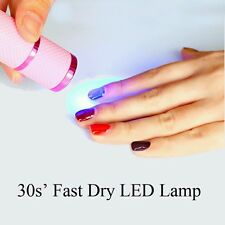 Flashlight UV Lamp Mini 9 LED Nail Dryer Portable For Nail Gel 15s Fast Dry Cure