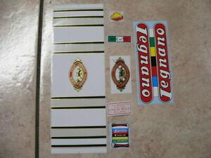 kit stickers adesivi per bici da corsa vintage LEGNANO tipo ROMA 7 pezzi