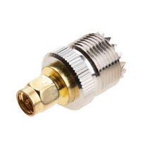 SO-239 UHF to SMA Male RF Plug Nickel Plated RF Connector Antenna Adapter