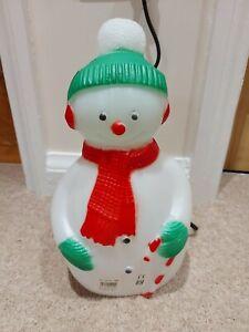 TPI Snowman blow mold vintage collectable christmas decoration light