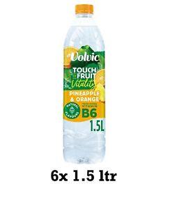 6x 1.5ltr Volvic Touch Of Fruit Orange & Pineapple