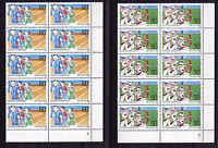 10 x Bund 1127 - 1128 FN Eckrand Block postfrisch mit Formnummer 2 FN Ecke 4