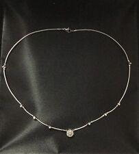 Charriol 18k white gold diamond necklace