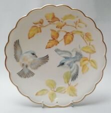 Royal Worcester Cerulean Warblers - Birds Of Dorothy Doughty Plate - Boxed