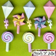 Tailspin-Candy Golosinas Lollipop Cometa Molino Novedad vestirla Craft Botones