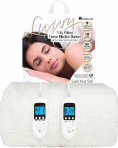 Electric Blanket Dual Control Fitted Mattress Bed Single Double Super King Size