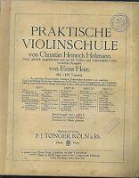 Ernst Heim : Praktische Violinschule Heft 3, alt, übergroß