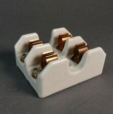 Union 388 402 Ceramic Fuse Block Holder 2 Pole