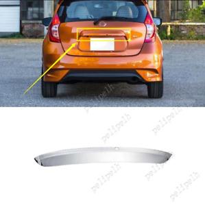 For 2017-2019 Nissan Versa Note Mirror steel Rear Trunk Tailgate handle trim 1pc