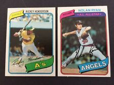 1980 Topps Baseball Complete High Grade Set