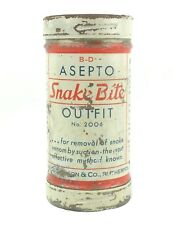 Vintage BD Asepto Snake Bite Outfit Kit Complete Never Used Nice No. 2006