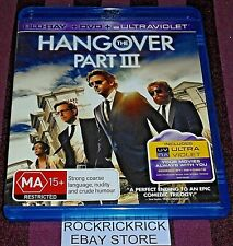 THE HANGOVER PART III -2 DISC SET BLU-RAY + DVD- LIKE NEW CONDITION