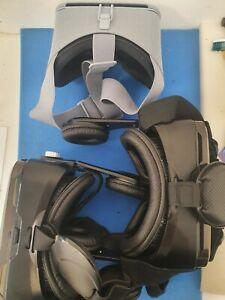VR Headsets(Set of 3) For Parts Only (Orange VR1, Google Daydream)