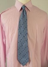 BURBERRY LONDON MENS LIGHT BLUE 60 INCH 100% SILK CLASSIC NECK TIE