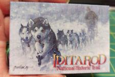 Alaska Magnet - Jon van Zyle Iditarod MUSH print on canvas magnet NICE!