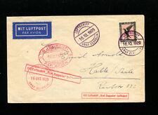 Zeppelin Sieger 42B 1929 Balkan Flight Germany Bordpost Bucarest Romania Drop