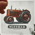 Stained Glass Red Nuffield Tractor Kiln fired rare Approx 10 CM X 10 CM