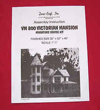 Dura-Craft  *VICTORIAN MANSION* VH-800  Dollhouse Instructions