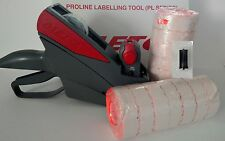 METO 622 PRICE LABELING GUN, FREE  BOX FLURO RED LABELS, FREE INK ROLLER