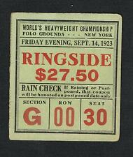 1923 World's Heavyweight Championship JACK DEMPSEY vs LUIS FIRPO  boxing ticket