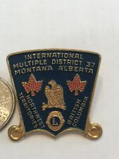 Lions Club INTERNATIONAL Pin Montana 1973 MD-37 ALBERTA BRITISH COLUMBIA NORTHWE