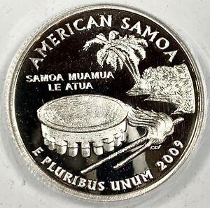 2009-S United States American Samoa Quarter - ANACS PR70 DCAM
