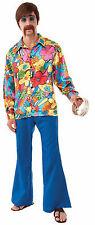 Mens Hippie Groovy Go Go Shirt  60's 70's Disco Costume Size Standard