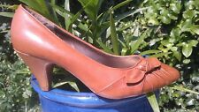 EVANS SMART DISTRESSED LEATHER COURT SHOES SIZE 5
