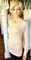 Alfani NEW Women's Large L Winter Rose Sparkle Tunic Sweater Palest Pink $69 NWT