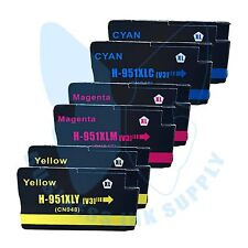 6 Color 951XL Ink cartridges 951XL CLR For HP Officejet 8600 8100 with NEW CHIP