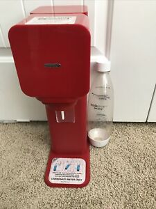 SodaStream Source Red Sparkling Water and Soda Maker Machine & Bottle Only