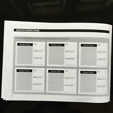 Ford CAPRI Service Book - History Maintenance Record Portfolio - New Blank